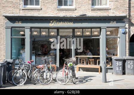 The new Fitzbillies cafe and restaurant in Bridge Street Cambridge UK - Stock Photo