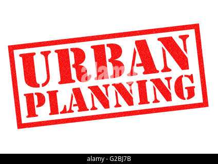 URBAN PLANNING red Rubber Stamp over a white background. - Stock Photo