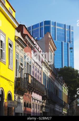 Colonial and modern architecture, Fatima, Rio de Janeiro, Brazil - Stock Photo