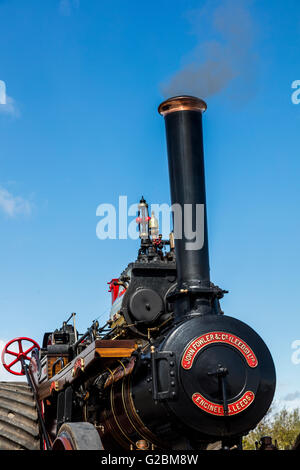 detail of Fowler Compound Traction steam Engine , named Kilmolin Princess - Stock Photo
