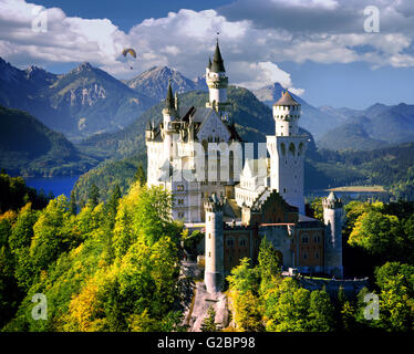 DE - BAVARIA: Neuschwanstein Castle - Stock Photo