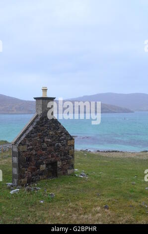 Isle of Barra and Vatersay, Outer Hebrides, Scotland - Stock Photo