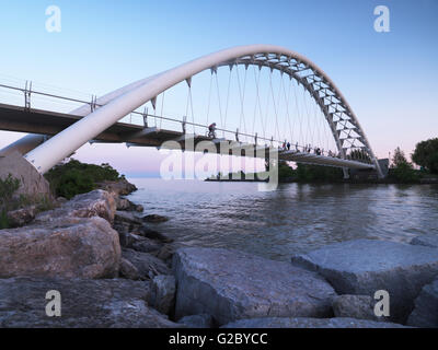 Humber River Arch Bridge, Toronto, Ontario Province, Canada - Stock Photo