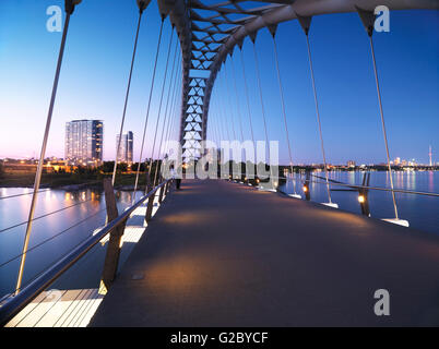 Humber River Arch Bridge, Toronto, Ontario Province, Canada - Stock Photo
