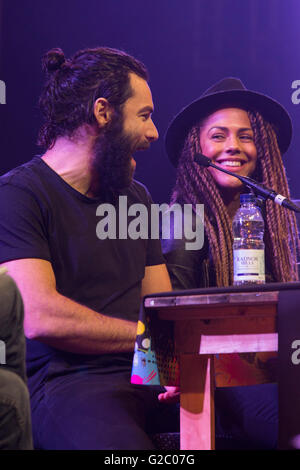 London, UK. 28 May 2016. Actors from the TV series The Importance of (Not) Being Human, L-R: Aidan Turner and Lenora - Stock Photo