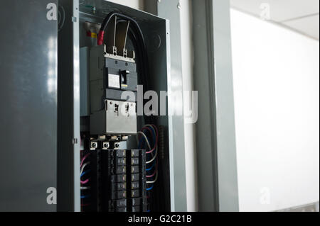 electric outdoor fuse box in soft light stock photo 104745667 alamy rh alamy com outdoor ac fuse box small outdoor fuse box