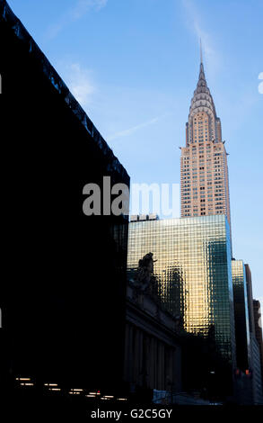 The Chrysler Building at 42nd Street and Lexington Avenue in New York City, the fifth tallest skyscraper in the - Stock Photo