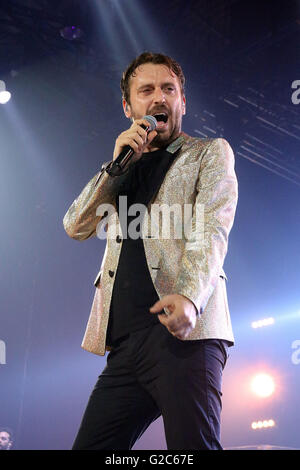 Cesare Cremonini, is a songwriter , musician and actor Italian - Stock Photo