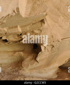 detail of the inside of a rock formation in the Utah desert - Stock Photo
