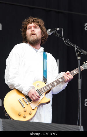 Super Furry Animals support Manic Street Preachers at the Liberty Stadium, Swansea. 28th May 2016. Pictured: Huw - Stock Photo