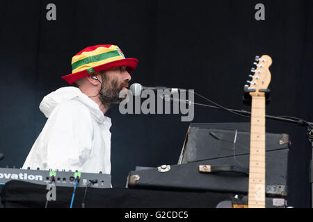 Super Furry Animals support Manic Street Preachers at the Liberty Stadium, Swansea. 28th May 2016. Pictured: Cian - Stock Photo