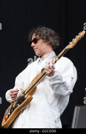 Super Furry Animals support Manic Street Preachers at the Liberty Stadium, Swansea. 28th May 2016. Pictured: Guto - Stock Photo