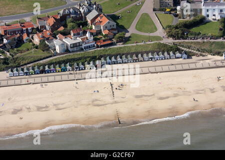 Aerial view of Southwold Beach - Stock Photo