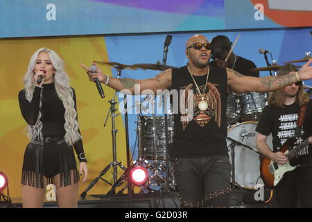 New York, New York, USA. 27th May, 2016. FLO RIDA performs for The Good Morning America Concert series in New York's - Stock Photo