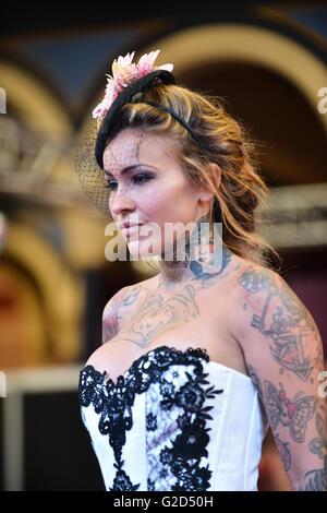 Alexandra Palace, London, UK. 28th May 2016. The Great British Tattoo Show London - Stock Photo