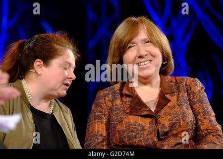 Hay Festival - Saturday 28th May 2016 - Journalist, author and Nobel Literature Laureate Svetlana Alexievich on - Stock Photo