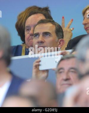 Milan, Italy. 28th May, 2016. Milan, Italy. 28th May, 2016. Felipe VI. König von Spanien  REAL MADRID - ATLETICO - Stock Photo