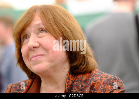Hay Festival - Saturday 28th May 2016 - Journalist, author and Nobel Literature Laureate Svetlana Alexievich in - Stock Photo