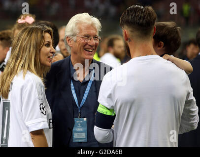 Milan, Italy. 28th May, 2016. UEFA Champions League Final between Real Madrid and Atletico de Madrid at the San - Stock Photo