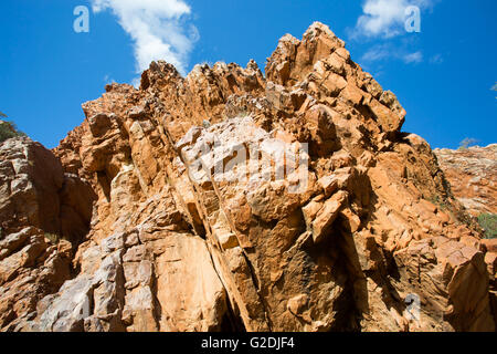 Emily Gap Nature Reserve near Alice Springs, Northern Territory, Australia - Stock Photo