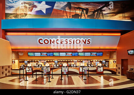 Movie Theater Concessions Stand - Stock Photo