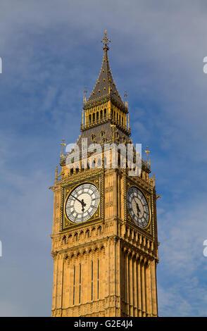 Famous Big Ben clock tower in London, UK. - Stock Photo