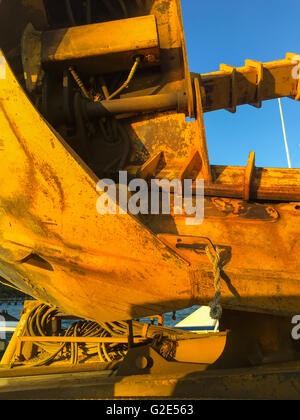detail image of a piece of construciton equipment in long island, ny - Stock Photo