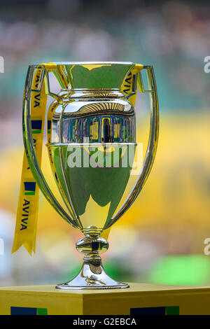 London, UK. 28th May, 2016. The Aviva Premiership final match between Saracens and Exeter Chiefs was held at Twickenham - Stock Photo