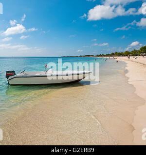 Square view of Playa Ancon near Trinidad, Cuba. - Stock Photo