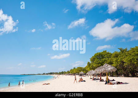 Horizontal view of Playa Ancon near Trinidad, Cuba. - Stock Photo