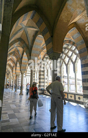 Amalfi Cathedral cloisters  Italy Europe - Stock Photo