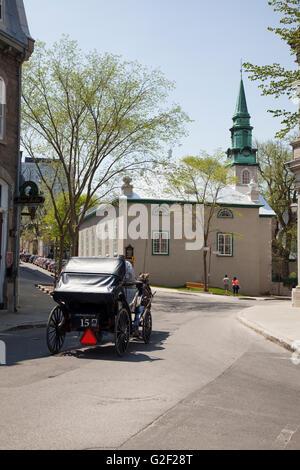 QUEBEC CITY - MAY 23, 2016: St. Andrew's Presbyterian Church, Quebec City is a Presbyterian Church in Canada congregation - Stock Photo