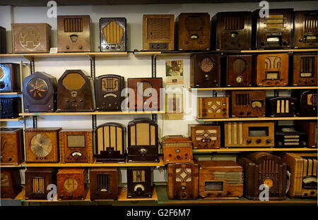 Collection of radio receivers from early 30es. - Stock Photo