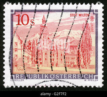 AUSTRIA - CIRCA 1984: A stamp printed in Austria,architecture, - Stock Photo