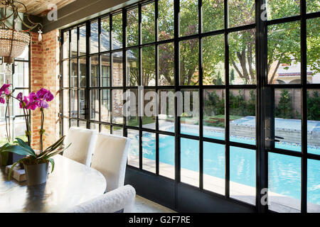 Dining Room with View of Swimming Pool