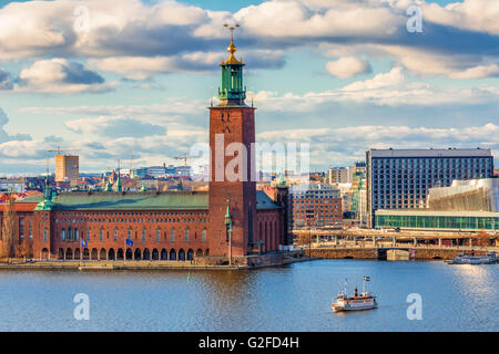 Stockholm City Hall. Stockholm City Hall is the building of the Municipal Council for the City of Stockholm in Sweden - Stock Photo