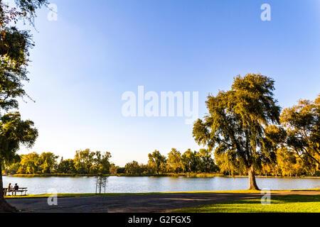 Lodi Lake In Lodi California - Stock Photo