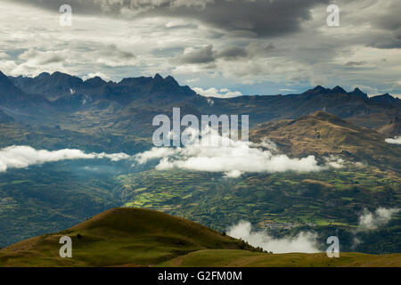 Autumn afternoon in Spanish Pyrenees near Panticosa, Huesca. - Stock Photo