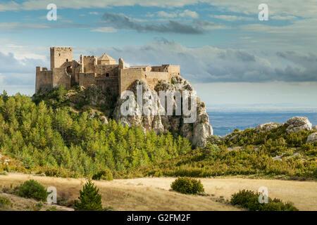 Loarre Castle, Huesca, Spain. Pre-Pyrenees of Aragón. - Stock Photo