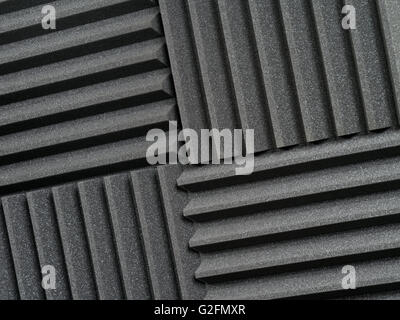 Background photo of recording studio sound dampening acoustical foam or tiles. - Stock Photo