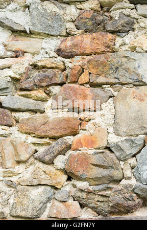 ... Close Up Of Hard Wall Made Of Raw Natural Stones. Can Be Used As