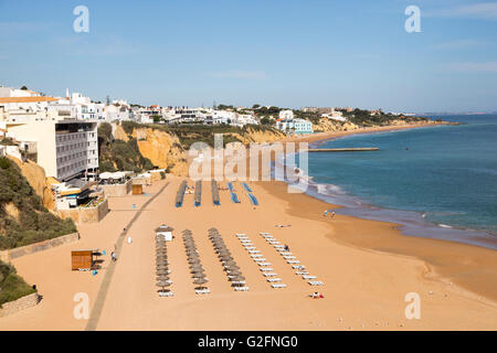 Beach, Albufeira, Algarve, Portugal - Stock Photo