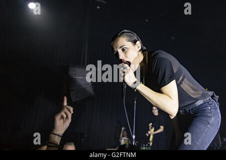 Jehnny Beth of Savages @ Imperial Vancouver on May 27th 2016 - Stock Photo