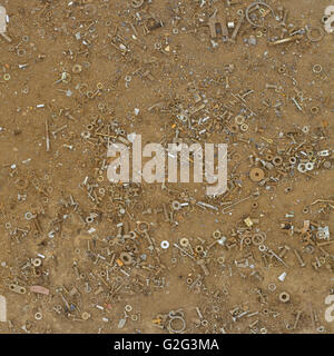 Old Grungy Rusty Nuts Background - Stock Photo