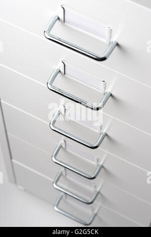White Cabinet with drawers - Stock Photo