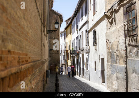 Old Town of Granada Spain - Stock Photo