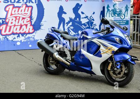 Suzuki hayabusa showing in automotive event tumplek blek 2016, Jakarta, Indonesia - Stock Photo