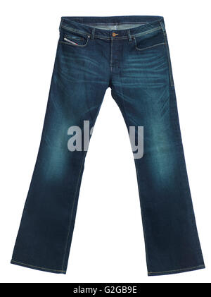Diesel jeans Zathan, men's boot-cut washed denim pants - Stock Photo
