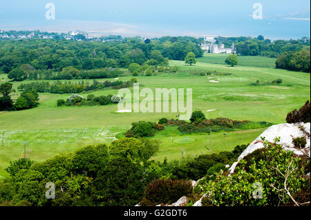 Dublin,Ireland - May 29, 2016. View from the top of the hill on Deer castle and beach in Howth , - Stock Photo