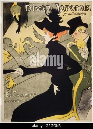 Henri de Toulouse-Lautrec - Divan Japonais - Museum of Fine Arts, Boston - Stock Photo